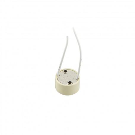 Base GU10 in ceramica con cavo - portalampada