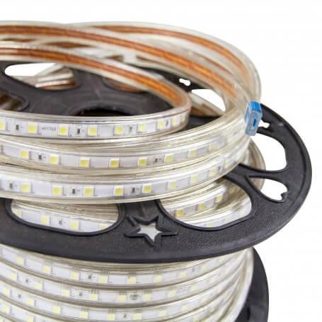 Striscia led 220v ip67 bianco naturale freddo o caldo per for Luce led striscia