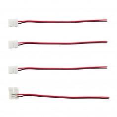 Connettore 2Pin 8mm + cavo 15cm (per strisce LED) -(Conf. 4pz)