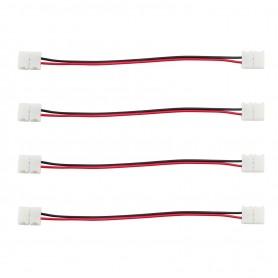 Connettore Doppio 2Pin 10mm + cavo di 15cm (per strisce LED) -(Conf. 4pz)