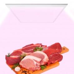 Pannello LED Rosa per Banco Carni da Incasso 60x60cm 48W- Premium