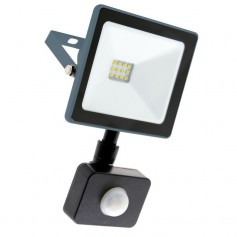 Faro Slim Black 10W con Sensore di Movimento
