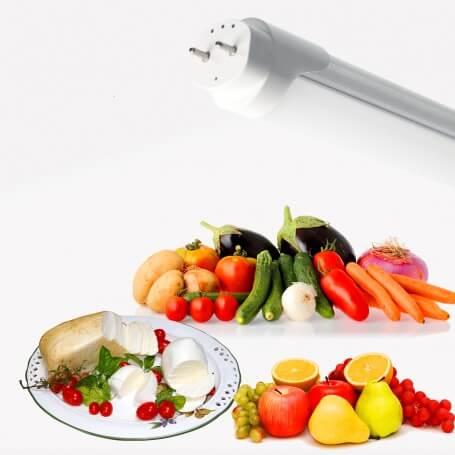 Tubo LED T8 per banchi Caseari, Frutta e Verdura 150cm 25W