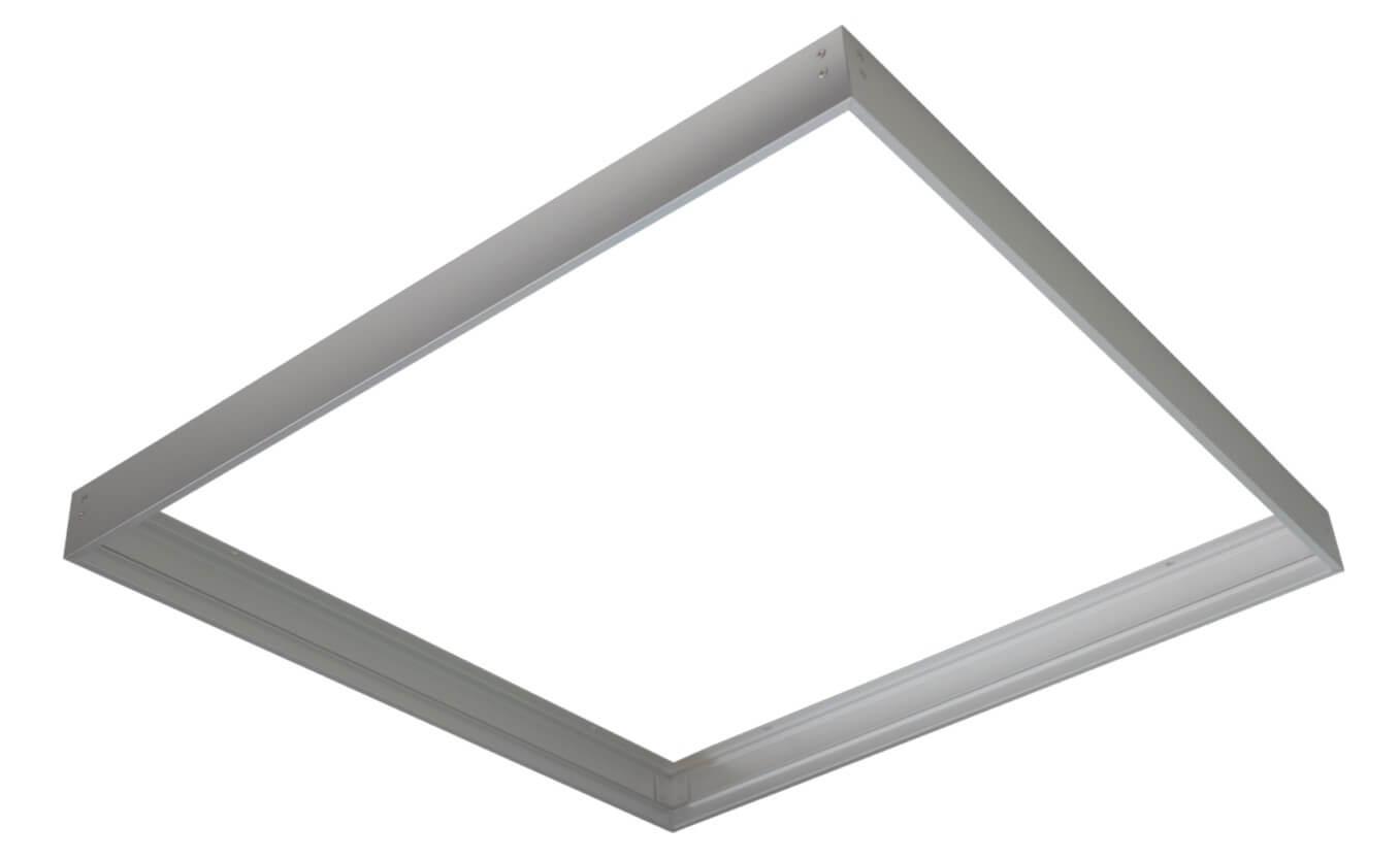 Plafoniera Incasso Led 60x60 : Cornice color alluminio per pannello led 60x60
