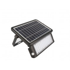Faro LED 10W con pannello fotovaico e 2 sensori di movimento