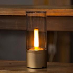 Lampada da Tavolo a candela, tecnologia BLE dimmerabile, bluetooth, a batteria con ricarica USB