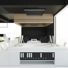 Pannello LED a Sospensione 60x60 44W B. Naturale Antiabbagliamento 5.300lm - NERO