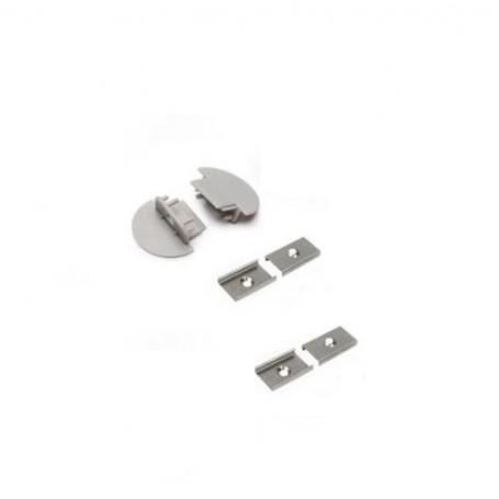 KIT Accessori per Profilo da incasso per doppia striscia led Clips+ Tappi